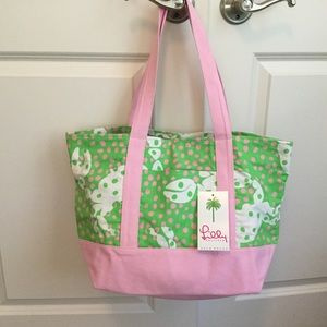 Lilly Pulitzer Tote Bag NOT SO CRABBY Brand New!!